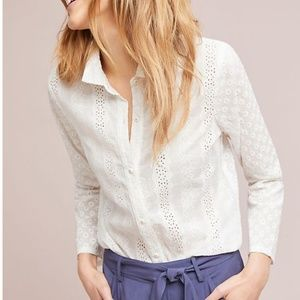 Anthropologie Eyelet Top